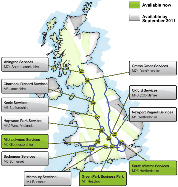 M6 Services Map Ecotricity « Simon Dare's Blog